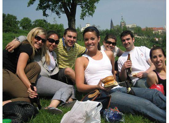 This is my Czech class on Petrin hill
