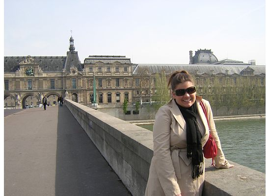 This is a picture from Paris, but I'm wearing the super cute trench I bought